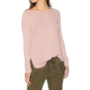 Lucky Brand Ribbed Mix Knit Dolman Thermal L NWT
